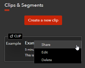 Clip Share Selection